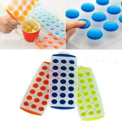 3 Pack Silicone Ice Cube 21 Cubes Tray Maker Easy Pop Out Solft PP Mold BPA Free $6.99