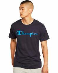 Champion Men#x27;s Classic Jersey Tee Script Logo Athletics T Shirt Ring spun Cotton $10.80