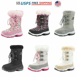 Kids Boys Girls Knee High Winter Insulated Snow Boots Warm Boots $23.99