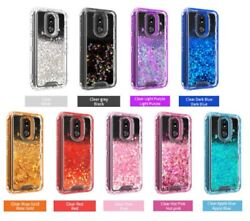 For LG K40 Phone Case Premium Glitter Quicksand CoverTempered Glass Protector $11.49