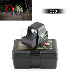 558 Red Green Dot Tactical Holographic Sight Reflex Sight with 20mm QD Rail $62.99