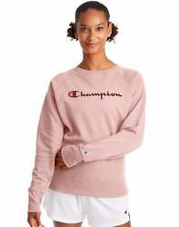 Champion Women#x27;s Athletics Powerblend Boyfriend Crew Script Logo $26.97