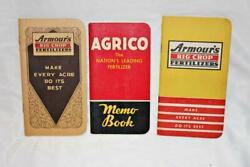 Lot of 3 1930s and 40s Agriculture Advertising Booklets Notepads Agrico Armour#x27;s $18.74