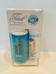PURE BRAZILIAN EXPRESS BLOWOUT 2 PC MINI KIT WITH ANTI RESIDUE SHAMPOO $43.65