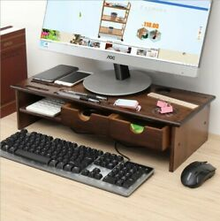 Computer Monitor Riser Desk Table TV Stand Shelf Desktop Laptop Shelves Home US $29.99