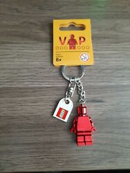 LEGO® Red Chrome VIP Minifigure Keychain 5005205 6195777 New with Tags $16.95
