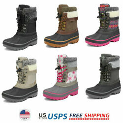 Kids Toddlers Boys Girls Winter Snow Boots Waterproof Outdoor Boots $25.49
