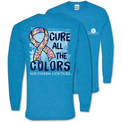 Southern Couture Classic Cure All The Colors Cancer Long Sleeve T Shirt $24.99