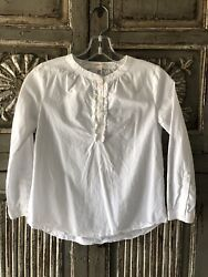 crewcuts Girls White Pullover Blouse Size 10 $15.00