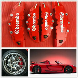 4pcs Front amp; Rear Universal Red 3D Brembo Style Car Disc Brake Caliper Covers $18.99