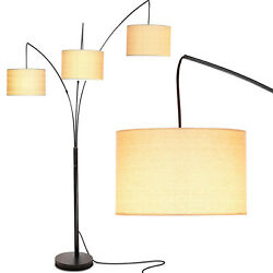 Brightech Trilage 9.5 Watt LED Bulb 3 Lights with Shades Arc Floor Lamp Used