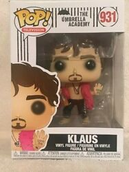 FUNKO POP UMBRELLA ACADEMY TV KLAUS HARGREEVES #931 NEW IN BOX IN HAND $29.95