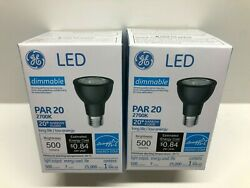 GE 93349 LED7DP203B827 20 PAR 20 Commercial Flood LED Light Bulb 2700K 500Lu 2pk