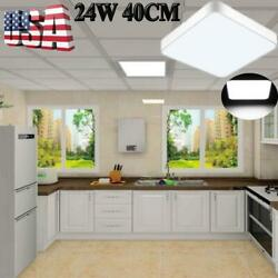 24W Square LED Ceiling Down Light Panel Lamp Fixture Recessed Commercial Lights