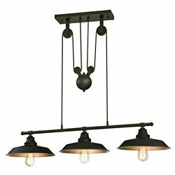 Westinghouse 6332500 Iron Hill Three Light Pulley Pendant Oil Rubbed Finish $113.53