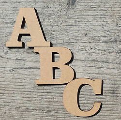 3cm 30cm Wooden Letters Large Small 3mm Thick MDF Craft Extra Large Signs Home GBP 0.99