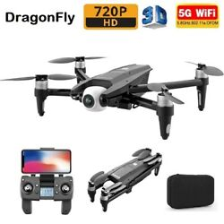 DragonFly 720P HD 3D FPV 5G Wifi 2 Axis Gimbal Drone Camera Foldable Quadcopter $69.74