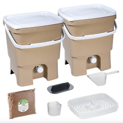 Bokashi Organko Kitchen Composter Fermenting Bucket by Skaza beige $85.00