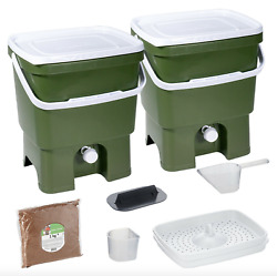 Bokashi Organko Kitchen Composter Bio Waste Fermenting Bucket by Skaza green $85.00
