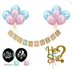 Gender Reveal balloon Party Supplies Baby Shower Boy or Girl Decorations Set $6.49