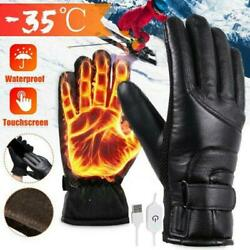 USB Electric Waterproof Gloves Winter Motorcycle Motorbike Warm Glove D8N8 $17.37