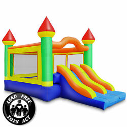 22#x27;x15#x27; Commercial Mega Slide Bounce House w Blower 100% PVC Inflatable Bouncer