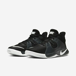 Nike FLY.BY Mid Men#x27;s Basketball Shoes CD0189 001 Black White Smoke Grey NEW $59.95