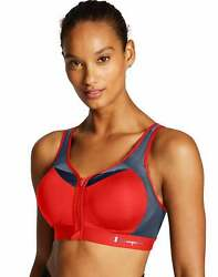 Sports Bra Champion Motion Control Zip Maximum Support Double Dry Adjustable NWT $27.00