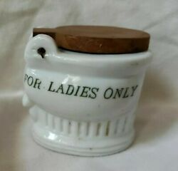 Vintage Novelty quot;For Ladies Onlyquot; Ashtray? Toothpick Holder? $6.00