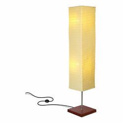 Brightech Tranquility Slim Square Shade Standing Tower Floor Lamp Open Box