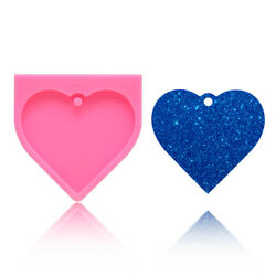 Heart Shiny Silicone Mold Resin Casting Keychain Hanging DIY Epoxy Craft Jewelry $2.84