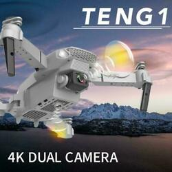 Fold FPV Drone Quadcopter With Camera Dron Professional D Hold 4K Altitude T7R3 C $39.65