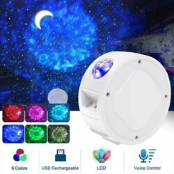 LED Galaxy Starry Sky Projector Night Light Ocean Wave Star Moon Room Decor Lamp $28.99