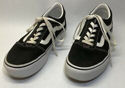 Vans Off the Wall Women#x27;s 7.5 US Black Canvas Skate Shoes 721356 $14.98