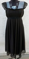 Vera Wang Dress New Chocolate Dark Brown Empire Cocktail Chiffon Dress S M $42.00