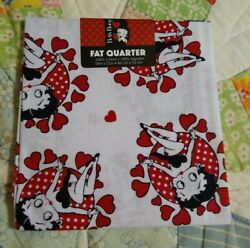 Betty Boop Heart#x27;s ❤️ Fat Quarter 18quot;x21quot; 100% cotton New Free shipping $9.60