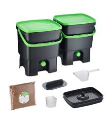 Bokashi Organko Kitchen Composter Bio Waste Fermenting Bucket by Skaza black $85.00