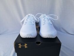 New Men#x27;s UA Charged Pursuit 2 Running Shoes 3022594 101 White $26.00