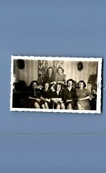 FOUND Bamp;W PHOTO E6443 PRETTY WOMEN POSED SIITTING ON FLOORCOUCH $6.98