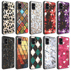 For Samsung Galaxy A51 5G CaseGlitter Shockproof CoverTempered Glass Protector $7.99
