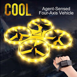 ZF04 RC Mini Quadcopter Induction Drone Smart Watch Remote Hand Control Drone $33.88