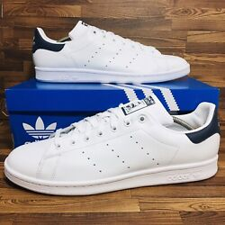Adidas Originals Stan Smith Men's Athletic Tennis Casual Sneaker White Blue Shoe $59.99