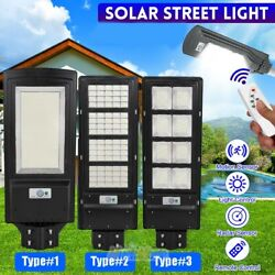 300000LM Commercial LED Solar Street Light PIR Motion Sensor Dusk to DawnRemote