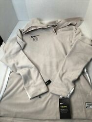 Nike FC Drill Top Mens AT6105 008 Beige Soccer New With Tags Size Large $54.99