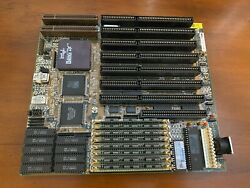 MSI Intel 486DX 33MHz 8MB RAM 256KB Cache Vintage Motherboard READ DESCRIPTION $84.99