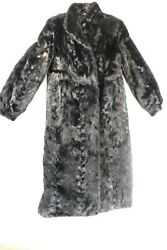 Women#x27;s Black Fur Long Trench Coat Size M For wearing or cutter $68.00