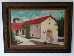 ANTIQUE OIL PAINTING on LARGE CANVAS. Framed. Excellent Condition. $375.00