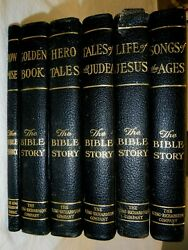 Antique Set of THE BIBLE STORY 6 Books 5 Volumes 1 Guide VGC King Richardson Co $49.99
