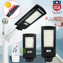 90000LM 150W Outdoor Commercial LED Solar Street Light Spotlight PIRRemotePole