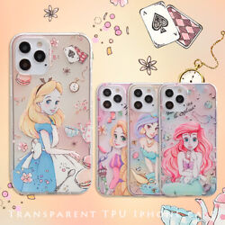 Cute For iPhone 12 Pro Max Mini 11 Princess Alice Mermaid Soft Clear Armor Case $4.99